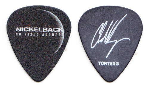 Nickelback Chad Kroeger Signature Black Guitar Pick 2 2015 No Fixed Address Tour