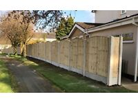 🏅Excellent Quality Bow Top Feather Edge New Fence Panels • Tanalised Heavy Duty