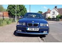 BMW E36 3 SERIES 323i 2.5 AUTO M SPORT CONVERTIBLE HARD TOP FSH(PART BMW SERVICE HISTORY)