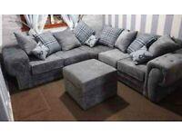 🤍💖🔴AMAZING OFFER🤎💖🔴Brand New Verona 3+2 / Corner Sofa / Swivel Chair / Footstool