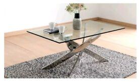 Designer glass coffee table