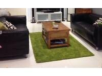 Leather sofa £75.-