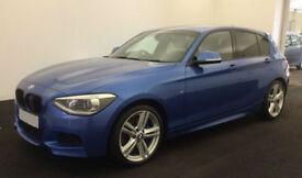 Blue BMW 125D AUTO M Sport 5 door 218bhp FROM £72 PER WEEK!