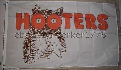 Hooters Restaurant 1983-2013 White 3'x5' Flag Banner - USA Seller Shipper