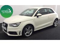 FROM £185.93 PER MONTH WHITE 2011 AUDI A1 1.6 TDI S LINE 3 DOOR DIESEL MANUAL