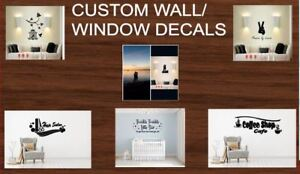 WALL DECALS! you create it and we make it