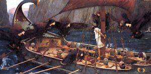 Ulysses and the Sirens   by John William Waterhouse  Giclee Canvas Print Repro