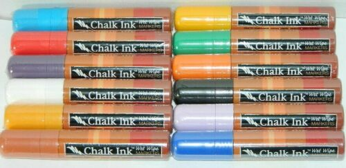 Chalk Ink Wet Wipe Marker 15mm Mirrors Glass Ceramic Plastic-Pic Your Colour