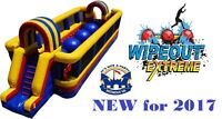 Wipeout Ball Obstacle Course Inflatable Bouncy Castle