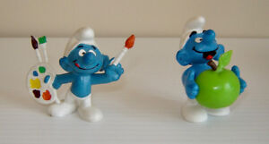 Rare Vintage Peyo Bully & Schleich Smurfs Made in West Germany