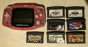 Game Boy Advance with 7 Games