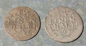German Prussia 2 silver coin 48 and 24/einen thaler from XVIII