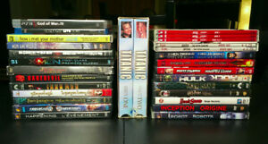 Lot de 27 DVD, BLU-RAY, VHS et PS3