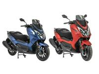Lexmoto Apollo 125 Premium Maxi Scooter 125cc CBT Learner Legal Blue or Red
