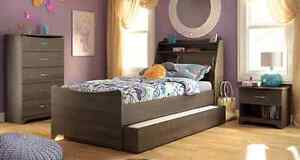 Twin trundle bed and dresser