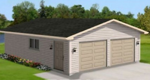 20x24 Turnkey Gable Garage Package by Allen Homes