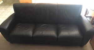 Leather Couch - Chocolate Brown Strathcona County Edmonton Area image 1