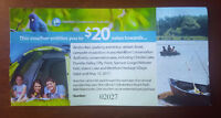 $20 Gift Card Hamilton Conservation Areas Selling for $13