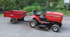 Lawn tractor, wagon. & snow plow