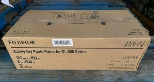 "NEW Box of 2 Rolls Fujifilm Dry Photo Paper Lustre 6"" x 590"