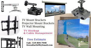 TV Mount Brackets - Projector & Screen Mouting Services Cambridge Kitchener Area image 1