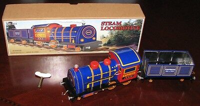 Express Steam Locomotive Classic Wind Up Tin Toy Brand New