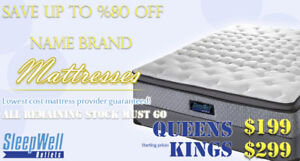 KING AND QUEEN MATTRESSES FROM SERTA AND SEALY