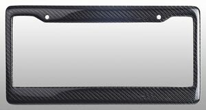 real 100 carbon fiber license plate frame tag cover original 3k with free caps