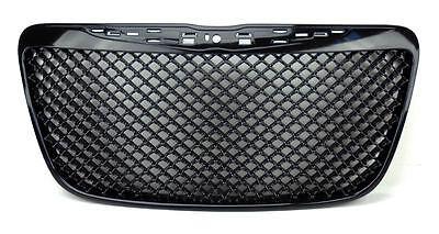 Black Honeycomb Front Center Grill Fits Chrysler 300 300C 2011-2014