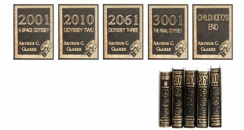 Dollhouse Miniature 1:12 Set of Five Arthur C. Clarke Books
