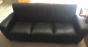 Leather Couch - Chocolate Brown
