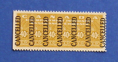 1941 40C Canada Unemployment Insurance Revenue Vd   Fu4 B   4 Specimen   Cs15997