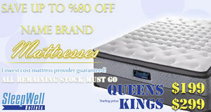 BRAND NAME KING MATTRESSES ON CLEARANCE