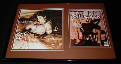 Madonna 12x18 Framed Rolling Stone Cover & Like A Virgin Display