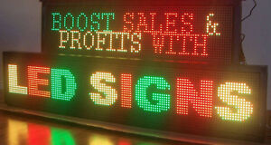 scrolling LED  illuminated programmable scrolling text defilante