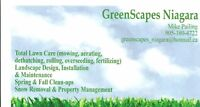 GreenScapes Niagara - BOOK NOW FOR LAWN MOWING!