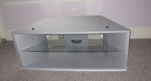 Silver TV Stand with Two sections 39x19.5x17inches Cambridge Kitchener Area image 1
