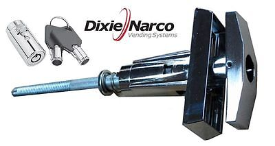 T-handle Assembly With Key Cover Lock-dixie Narco Early Style Machine-ships Free