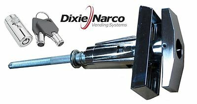 T-handle Assembly With Key Cover Lock - Dixie Narco Early Style Machines - New