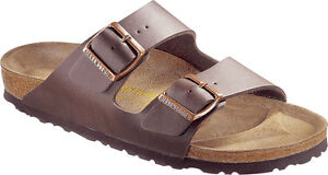 Birkenstock-ARIZONA-39-L8M6-R-New-051701-Dark-Brown