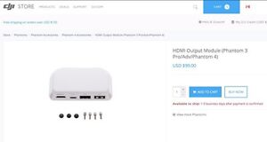 DJI HDMI Output Module Phantom 3 PRO/ADV & Phantom 4
