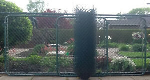 Green Chain  Link Fence and Gates