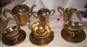 Antique Gold Gilt tea set
