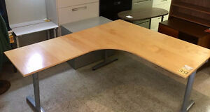 IKEA Height Adjustable L Shape Desk
