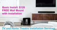 Professional TV Wall Mounting and Audio/Video Services