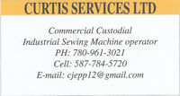 Are you looking for a person that can do cleaning or sewing?