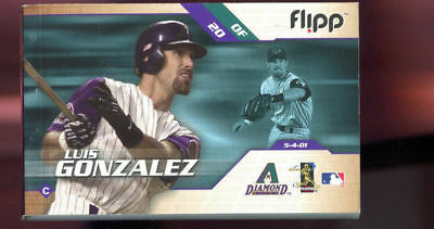 2002 Flipp Books Luis Gonzalez Diamond Backs Flippbooks Baseball Flip Book
