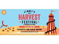 2 X ADULT DAY TKTS JIMMY'S FARM SAUSAGE AND BEER HARVEST FESTIVAL LIVE MUSIC SAT 23 JULY