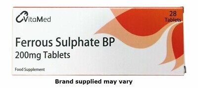 Ferrous Sulphate 200mg Tablets x 28 - Iron Tablets   Anemia   Iron Supplement
