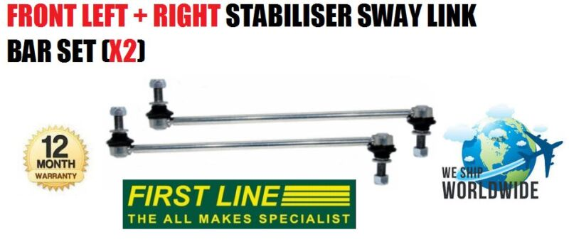 FOR LEXUS CT200 2010--> NEW FRONT LEFT + RIGHT STABILISER SWAY LINK BAR SET